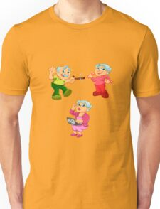 Funny old woman ,old man  Unisex T-Shirt