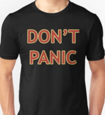 Don't Panic - Hitchhiker's Guide to the Galaxy Unisex T-Shirt