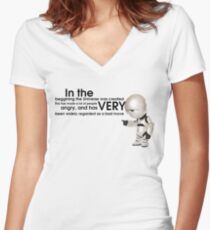 Universe Creation - Hitchhiker's Guide to the Galaxy Women's Fitted V-Neck T-Shirt