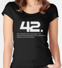 The meaning of life is 42 - Hitchhiker's Guide to the Galaxy Women's Fitted Scoop T-Shirt
