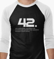 The meaning of life is 42 - Hitchhiker's Guide to the Galaxy Men's Baseball ¾ T-Shirt