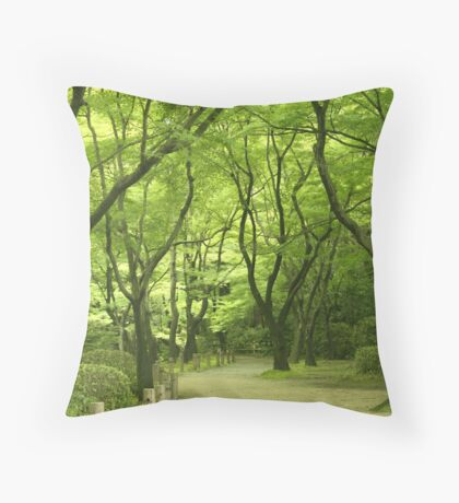 A Path Through The Woods Throw Pillow