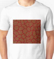 Deep Maroon in Giraffe Pattern Unisex T-Shirt