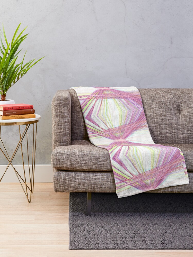 Alternate view of Linify Pink butterfly Throw Blanket