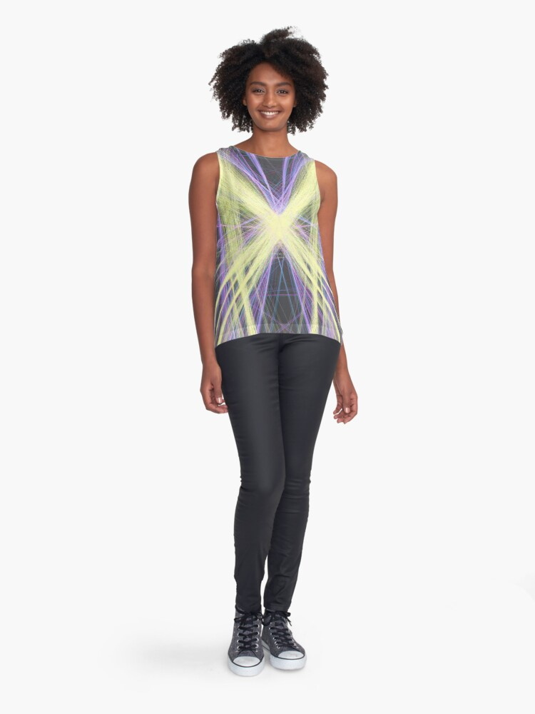 Alternate view of Linify Yellow butterfly Sleeveless Top