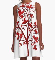 Canadian Maple Tree A-Line Dress