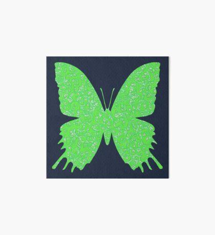 #DeepDream Lime Green color Butterfly Art Board Print