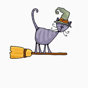 Broomstick kitty by cfkaatje