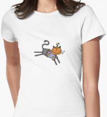 Pumpkin head Women's Fitted T-Shirt