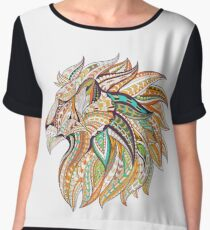 Tribal Lion Head Chiffon Top