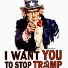 I Want You To Stop Trump by Crocktees