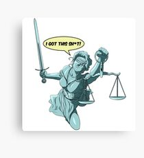 Lady Justice to the Rescue Canvas Print