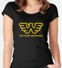 Waylon Jennings Women's Fitted Scoop T-Shirt
