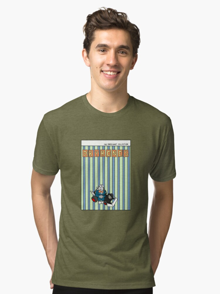 The Mario Kart Collection Presents: Dry Bones Tri-blend T-Shirt Front