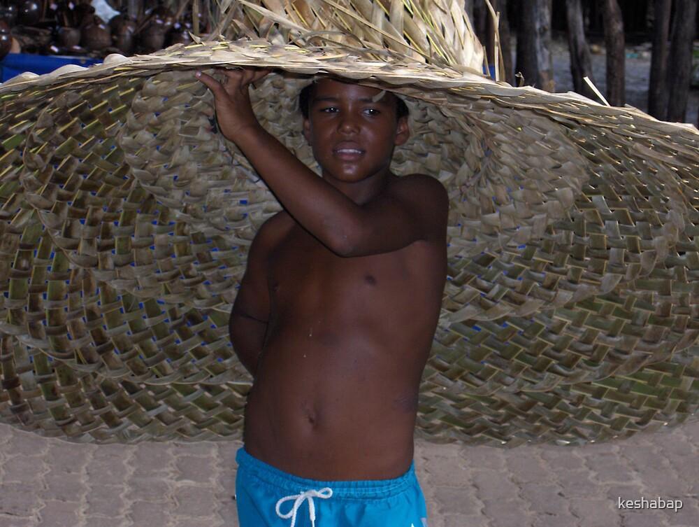 Boy with hat Praire de porte Brazil by keshabap