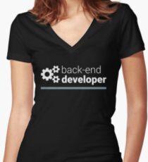 Back-End Developer Women's Fitted V-Neck T-Shirt