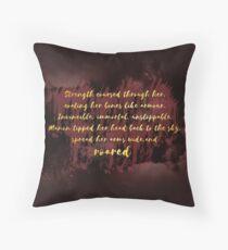 Manon Roared  Throw Pillow