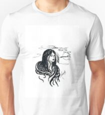 INDIAN GIRL UNDER THE MOON Unisex T-Shirt