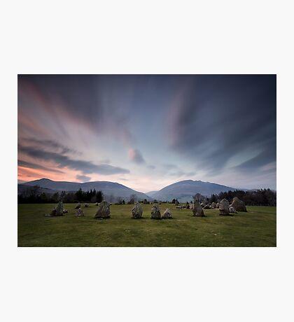 Sunset at Castlerigg Stone Circle Photographic Print