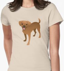 puggle puppy dog (Beagle cross Pug Dog) Womens Fitted T-Shirt