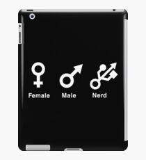 Female Male Nerd iPad Case/Skin