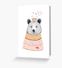Bear lover of coffee Greeting Card