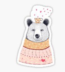 Bear lover of coffee Sticker