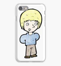 cartoon blond boy iPhone Case/Skin