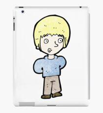 cartoon blond boy iPad Case/Skin