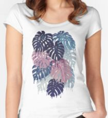 Monstera Melt Women's Fitted Scoop T-Shirt