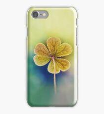 Heart-shaped Clover like Oxalis Macro. St Patrick's Day iPhone Case/Skin