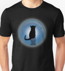 Cat Watching The Moon T-Shirt