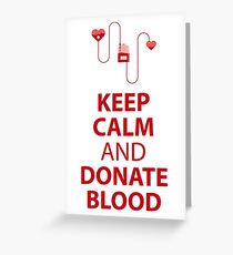 Blood donation greeting cards redbubble blood donation greeting card m4hsunfo