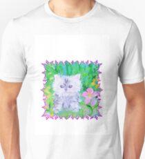 WHITE KITTEN Unisex T-Shirt