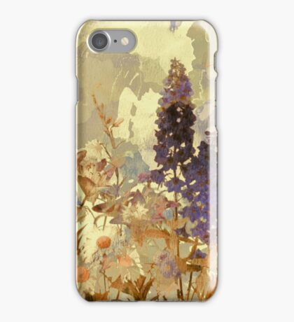 floral sur beige/floral on beige iPhone Case/Skin