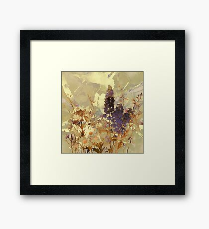 floral sur beige/floral on beige Framed Print