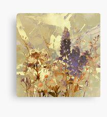 floral sur beige/floral on beige Metal Print
