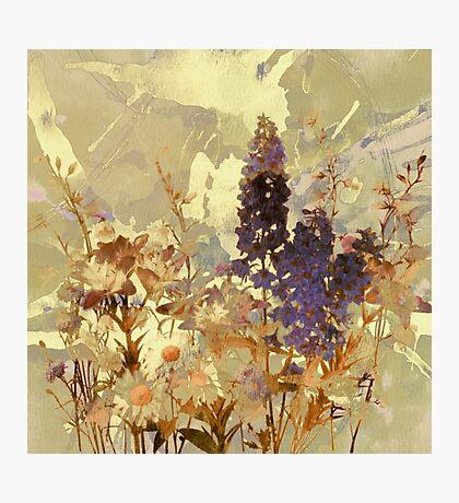 floral sur beige/floral on beige Photographic Print