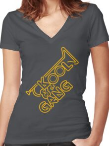 KOOL & THE GANG Women's Fitted V-Neck T-Shirt
