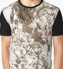 Dirty Acrylic Warrior Graphic T-Shirt