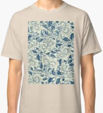 Bright Asian Modern Stylish Vintage Floral Pattern Art - Flowers Artwork Collection Classic T-Shirt