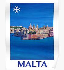 Retro poster Malta Valetta Poster