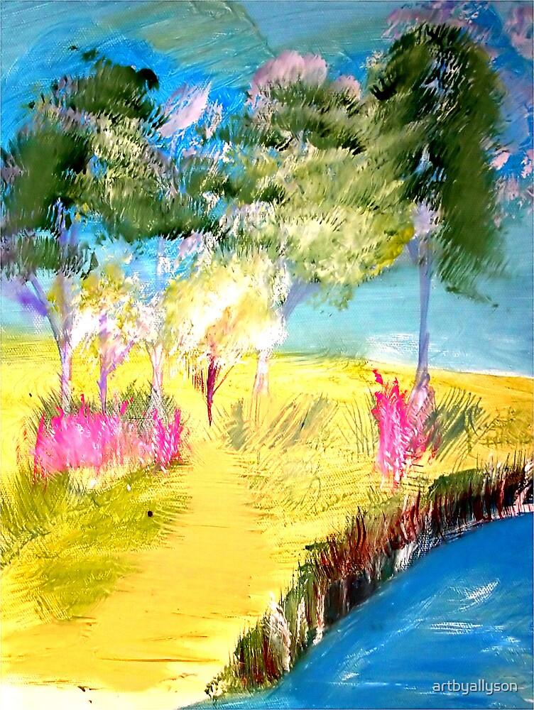 Landscape in the Meadow Water by Allyson Kitts