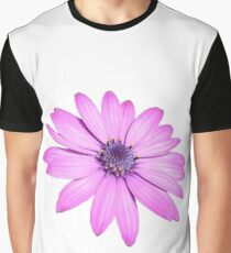 Single Pink African Daisy Against Green Foliage Isolated Graphic T-Shirt