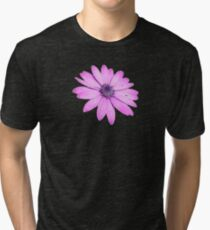 Single Pink African Daisy Against Green Foliage Isolated Tri-blend T-Shirt