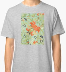 Cute Happy Summer Floral Abstract pattern Art - Vintage Asian Patterns Classic T-Shirt