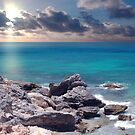 Sunrise on Campeche Beach  by Franklin Lindsey