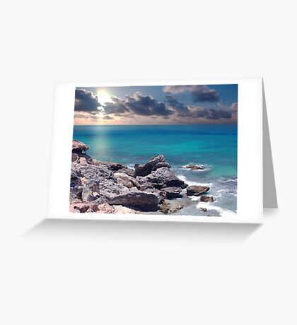 Sunrise on Campeche Beach  Greeting Card