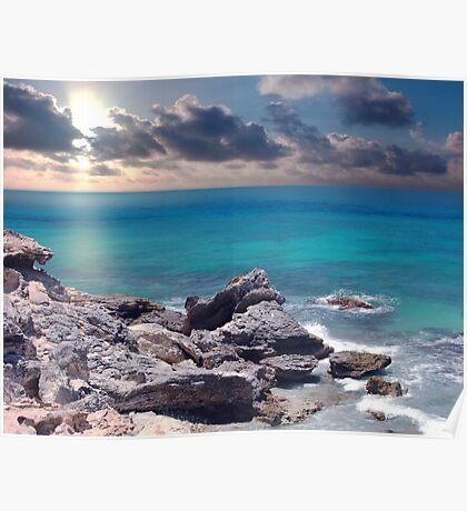 Sunrise on Campeche Beach  Poster
