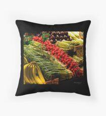 Market Iguana Throw Pillow